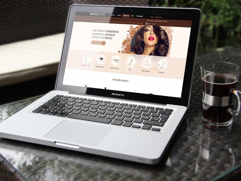 portfolio image of Website design for a cosmetic agency