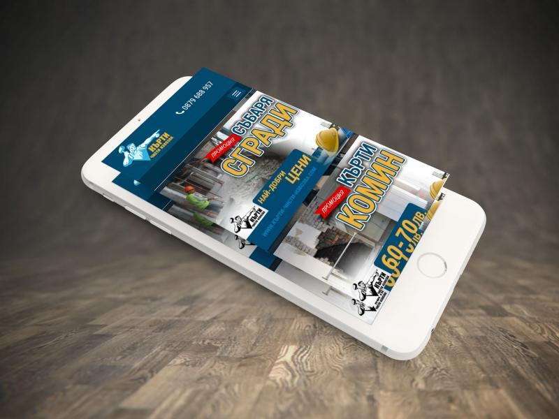 portfolio image of website design for contractors company