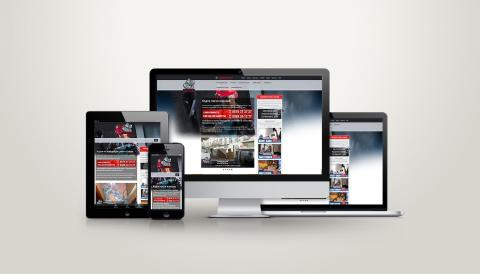 portfolio image of webside design for contraction firm