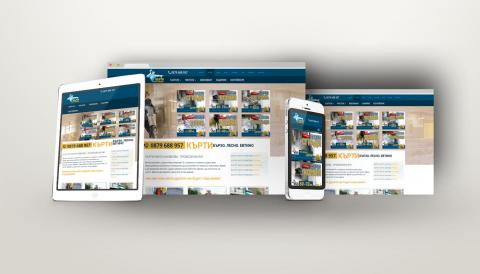 portfolio image of website design for contractors company