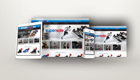 portfolio image of website desing for sports clothing